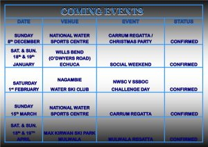 COMING EVENTS 2019